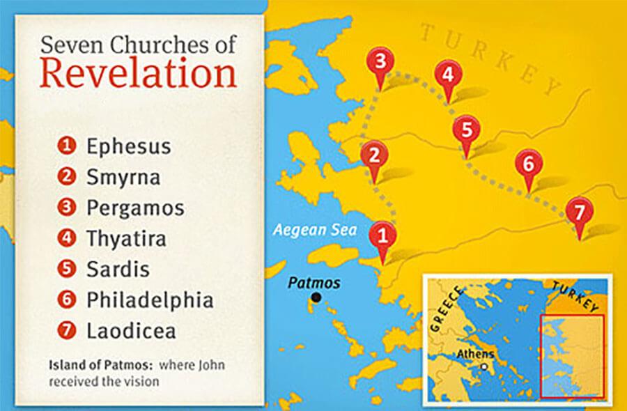 seven churches of revelation map