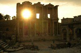 ephesus sun set